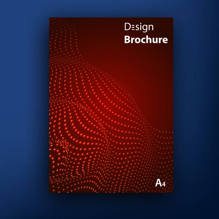 red sound: Vector red sound wave equalizer brochure   booklet cover design templates collection