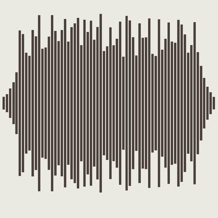 Vektor hanghullámok beállítani. Audio equalizer technológia, impulzus musical. Vektoros illusztráció