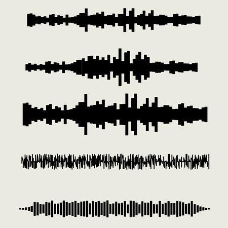 sonic: Vector sound waves set. Audio equalizer technology, pulse musical.  vector illustration eps10