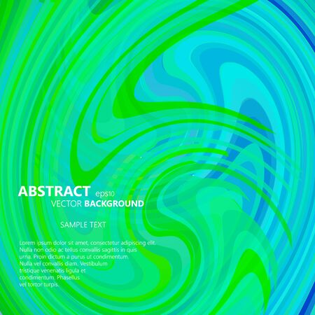 blue swirl: Abstract green and blue swirl eps10 vector illustration Illustration
