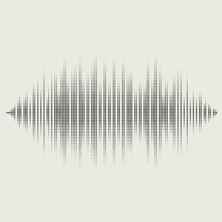 Vector sound waves set. Audio equalizer technology, pulse musical.  vector illustration eps10