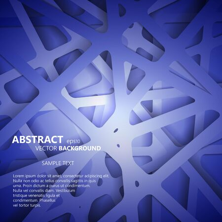 Abstract 3D Paper Graphics. Vector illustration for your business presentations. eps10 vector illustration Illustration