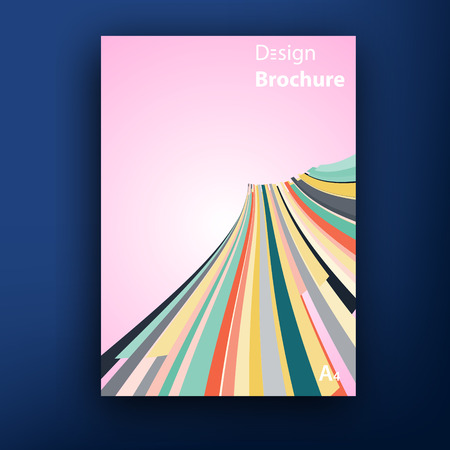 four color printing: Vector brochure  booklet cover design templates collection A4
