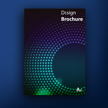 4 color printing: Vector brochure booklet cover design templates collection A4 eps 10 vector illustration Illustration