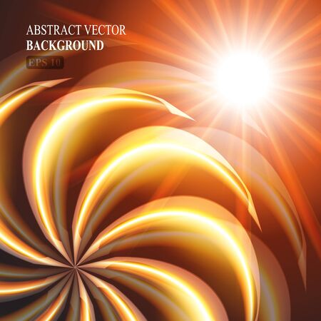 orange swirl: beautiful orange swirl background eps 10 vector illustration