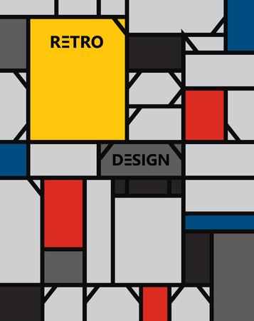 mondrian: geometric abstract pattern de stijl art eps 10 vector illustration