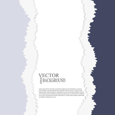 tear paper: EPS10 file.  tear paper brochure background eps 10 vector illustration Illustration