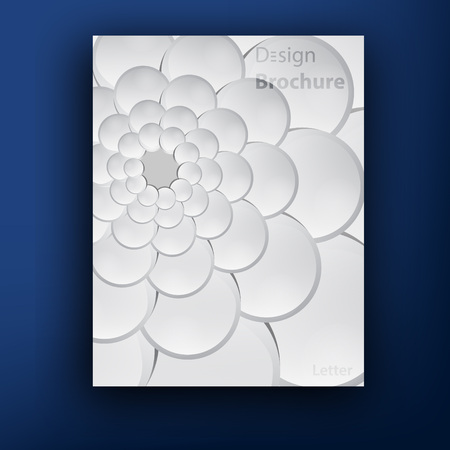 background patterns: Vector grey squama swirl  brochure   booklet cover design templates collection Illustration