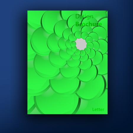 squama: Vector green squama  swirl brochure   booklet cover design templates collection Illustration