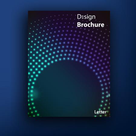 glamur: Vector glamur techno brochure  booklet cover design templates collection