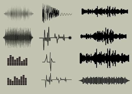 sonido: Ondas de sonido. M�sica de fondo archivo EPS 10 vector incluido
