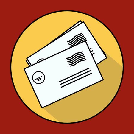 envelope icon: Envelope Mail icon, vector illustration. Flat design style Illustration