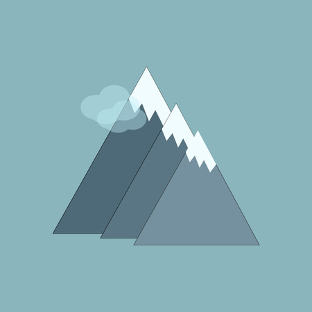 hill top: Mountains  vector illustration