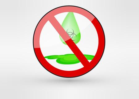 ácido: Ilustración vectorial ácido con el líquido verde peligrosa