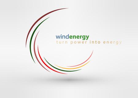 Windmill kreatív színes absztrakt vektor design sablon kör örvény üzleti ikon art vállalati azonosító jel fogalma