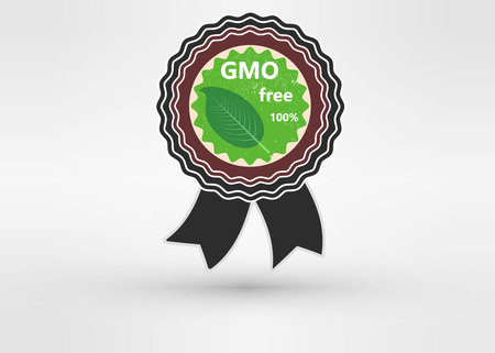 non: Made with Non - GMO ingredients grunge rubber stamp, vector illustration Illustration