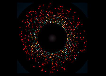 Egy példa a DNS-ujjlenyomat, 10 számú teszteltünk 6 lókuszok