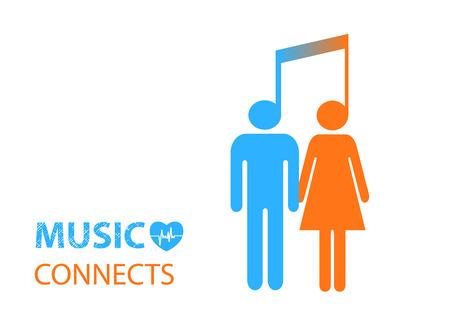 pessoas: Homem e mulheres ligados pela m