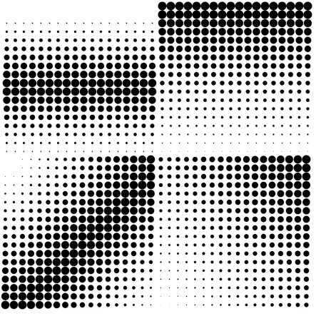 Diagonal halftone in square shape