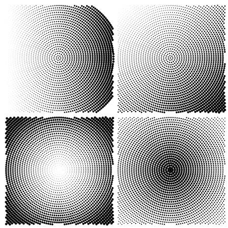 Radial halftone in square shape
