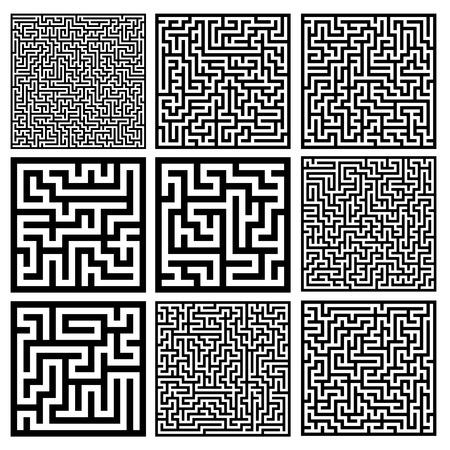 the maze: laberintos medianas establecen Vectores