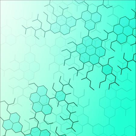 dna: Set of digital backgrounds for dna molecule structure vector illustration.