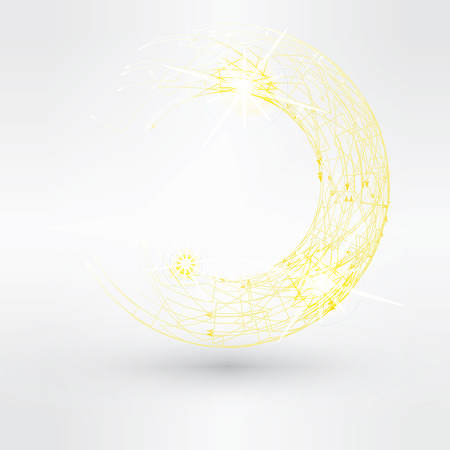 Absztrakt háttér sárga örvény