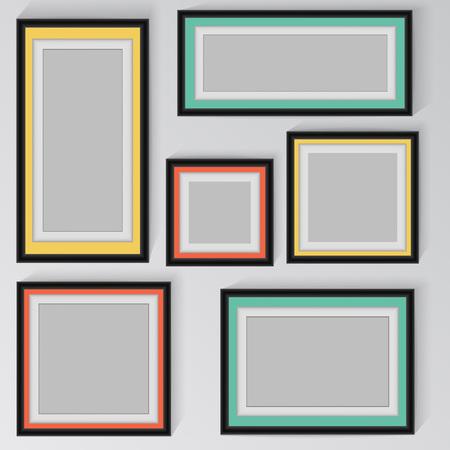 kleurrijke frame vector op de muur.