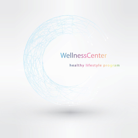 centers: Vector linear logo design concepts for hairdressers and wellness centers