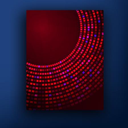 figuras abstractas: vector patrón con las figuras abstractas folletos. folleto de medios tonos abstracto rojo