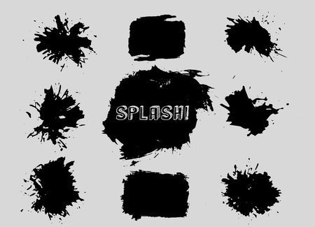 grunge frame: Set of grunge vector shapes. Vector banners. Abstract shapes. Big pack. Grunge art. Retro background. Vintage background. Design elements Illustration