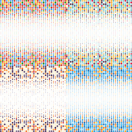 manic: Background with the coloured circles in a vector. Vintage color.