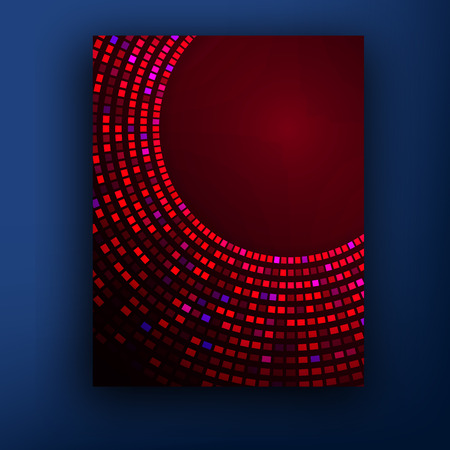 abstract figures: vector pattern with abstract figures brochures. red halftone abstract brochure