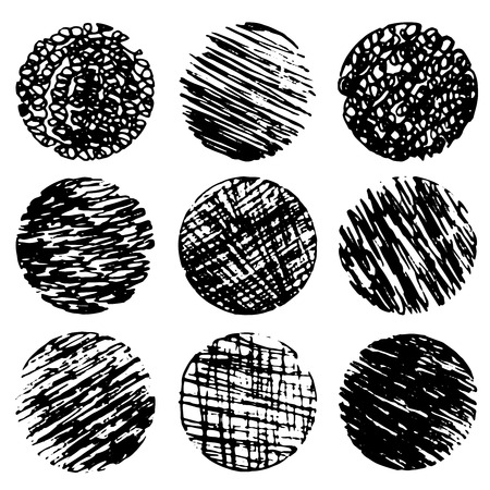 Drawing created in ink sketch handmade technique. Shapes on white paper watercolor texture background. Vector illustration design element in 10 eps Illustration