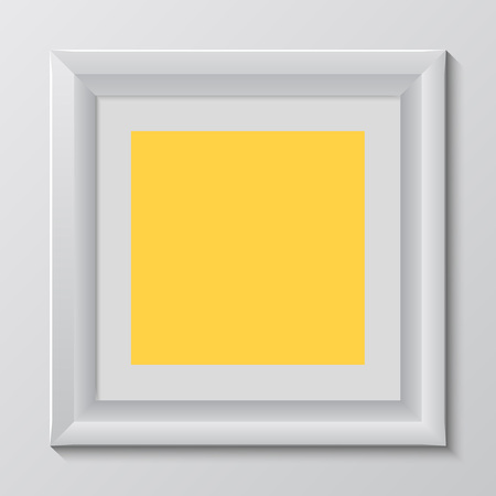 colorful frame: empty colorful frame on wall Illustration