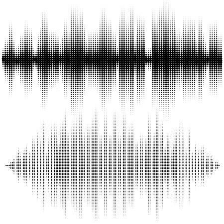 tu puedes: Elementos de semitono del vector. Ondas de sonido Vector. Music forma de onda de fondo. Usted puede usar en el club, radio, pub, DJ espectáculo, fiesta, conciertos, recitales o el fondo de publicidad tecnología de audio.