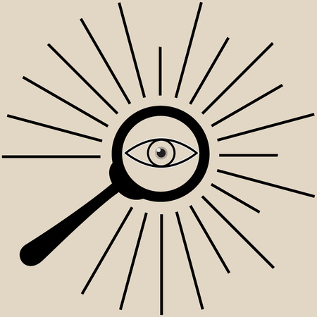all seeing eye: search icon all seeing eye