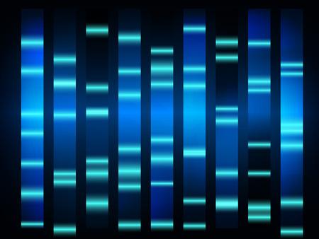 검은 배경 가진 다채로운 의료 DNA 결과 일러스트