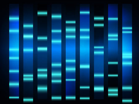 colourful medical dna results with black background Imagens - 48987253