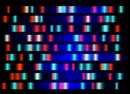 electrophoresis: colourful medical dna results with black background