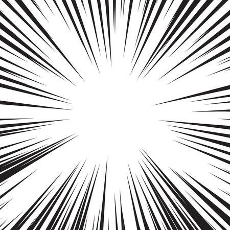 Comic book speed horizontale lijnen achtergrond set Vector Illustratie