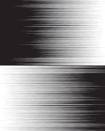 Képregény sebesség horizontális vonalak két szerkeszthető kép hátterét Illusztráció