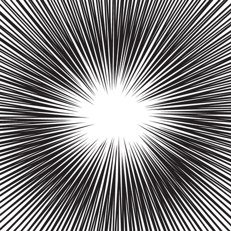 Comic book speed horizontal lines background set Ilustrace