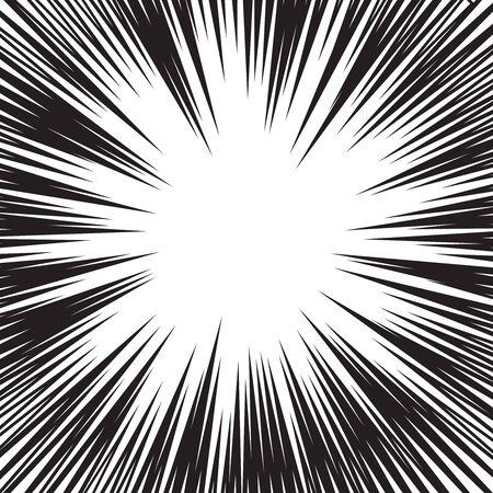 lineas horizontales: La velocidad del c�mic l�neas horizontales conjunto de antecedentes Foto de archivo