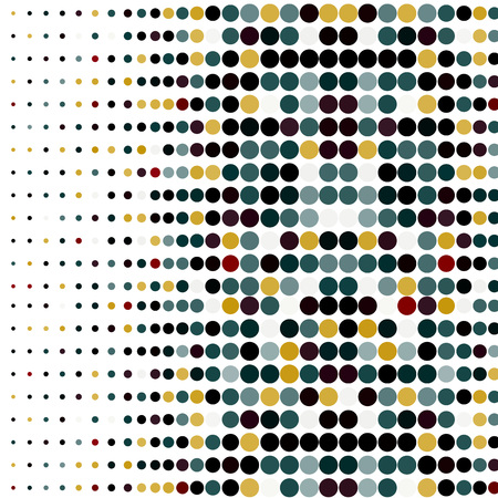 Background with the coloured circles in a vector