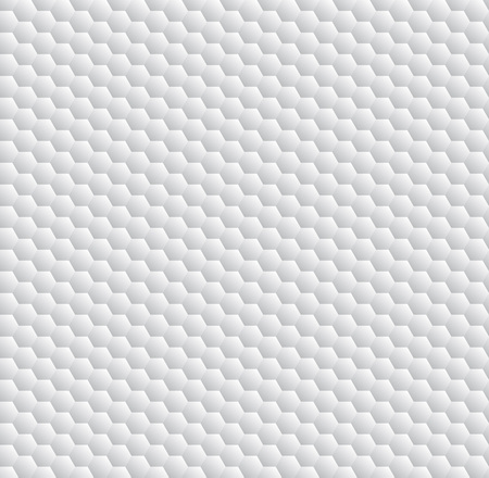 concrete background: White hexagon abstract  geometric seamless pattern, vector