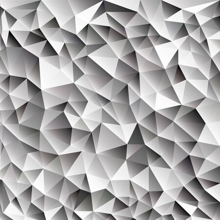 creasy: 3d abstract shining ice cubes  vector geometric web background, different shades of gray with triangle, black and white color diamond pattern wallpaper design