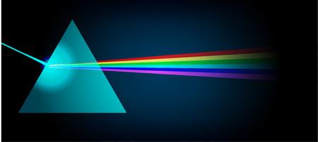 espectro de luz Prisma Física Ilustración de vector