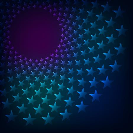rainbow background: Rainbow vortex of stars vector background