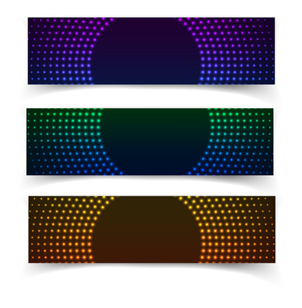 business backgound: Vector web banners. One, two, three. Presentation slide template. Abstract background. Business background. Technology background. Business card. Glowing background. Blue background. Illustration